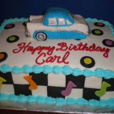 50s Style Birthday Cake