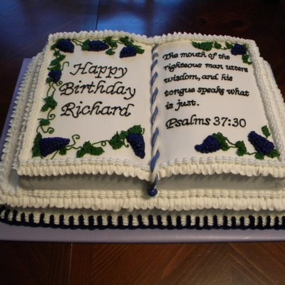 Incredible 60Th Birthday Bible Cake Cakecentral Com Personalised Birthday Cards Paralily Jamesorg