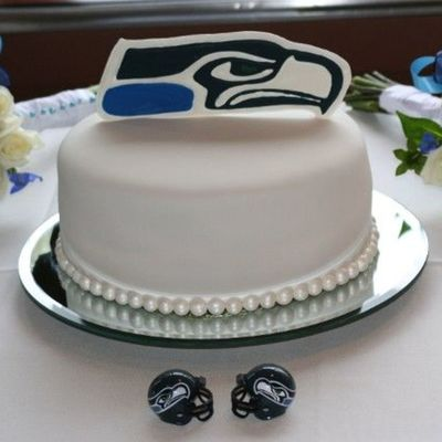 Seattle Seahawk Groom's Cake