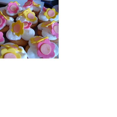 Care Bear Flowers On Clouds Cupcakes