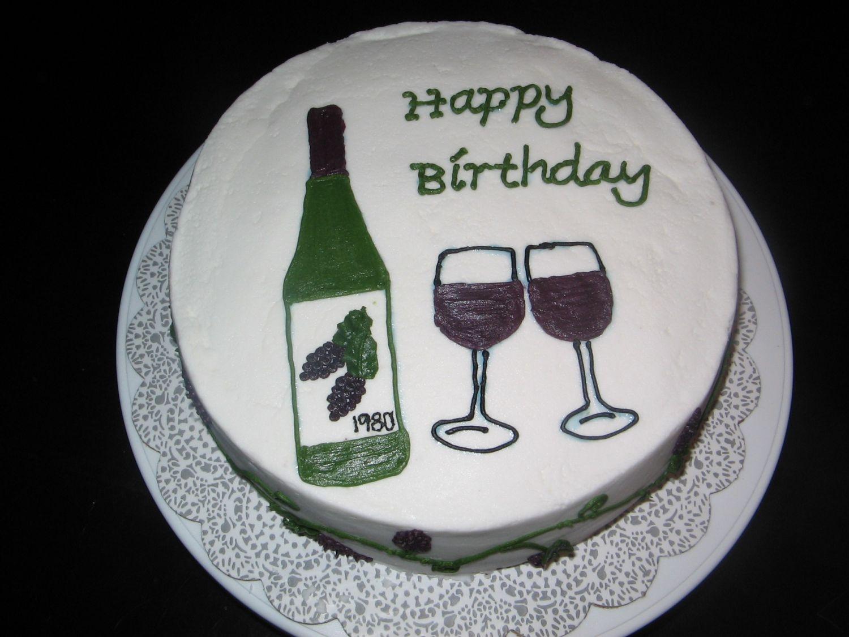 Wine Cake Decorating Photos