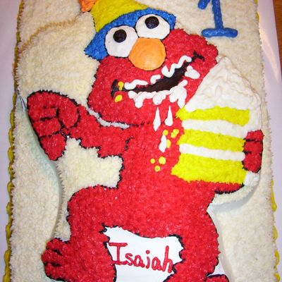 Elmo With Piece Of Cake