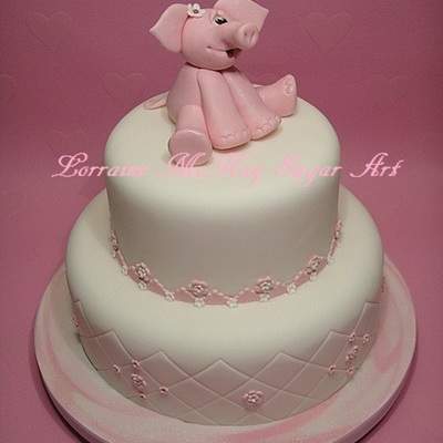 Cake Decorating - Pink Elephant