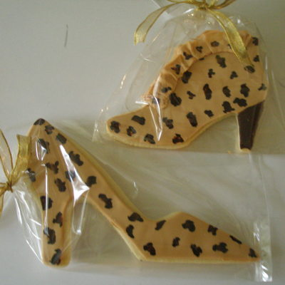 Leopard Shoe And Boot Cookies