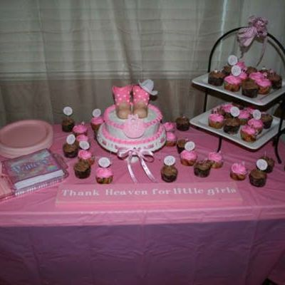 Cowgirl Boots -Baby Shower Cake With Cupcakes