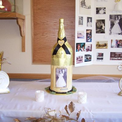 First Anniversary Wine Bottle Cake