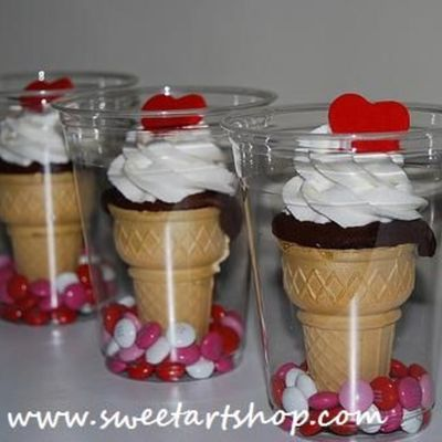 Valentine's Ice Cream Cones
