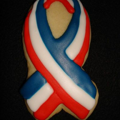 Red White Blue Ribbon Cookie