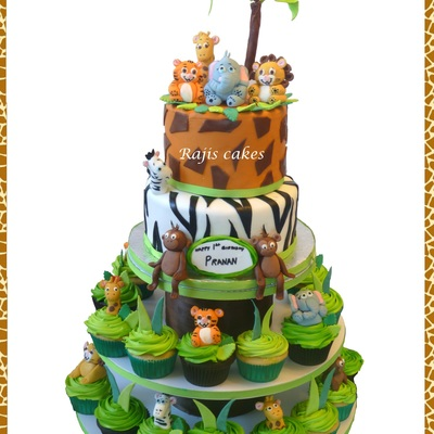 Jungle Cupcake Tower