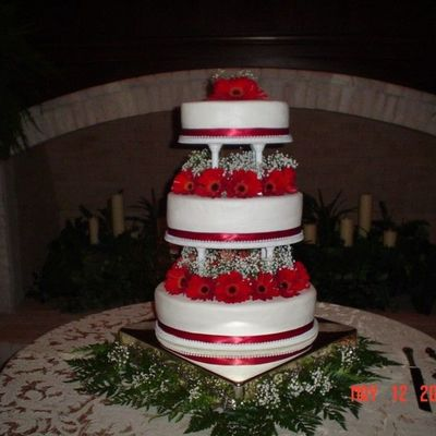 Oval Shape 3 Tier Wedding Cake