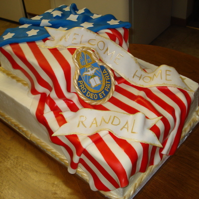 Flag Welcome Home Cake