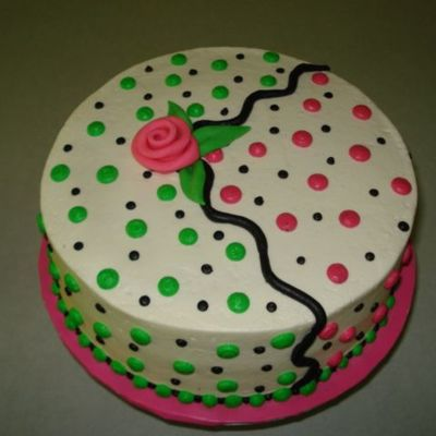 Dotted B-Day Cake