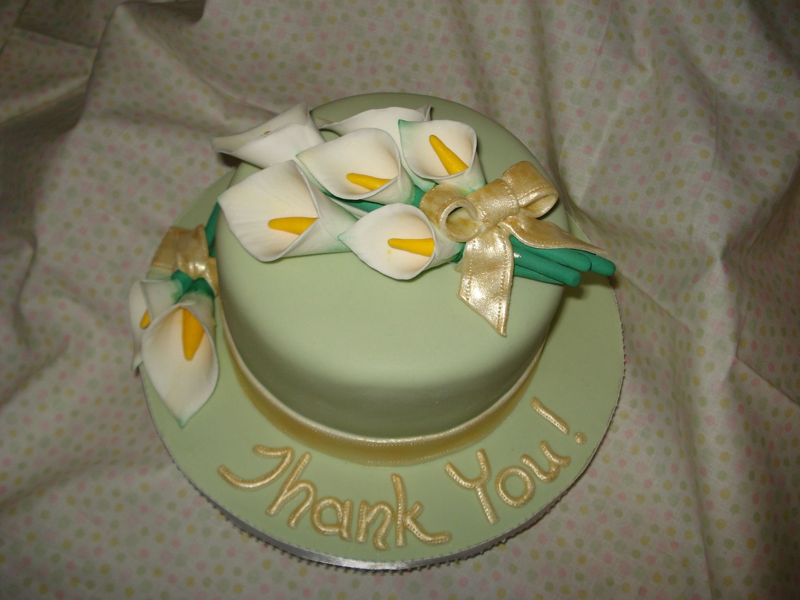"Calla Lily ""thank You!"" Cake"