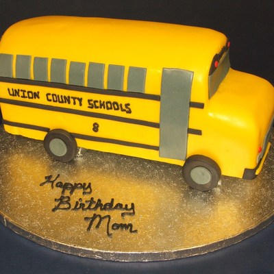 Pleasant School Bus Cakes Photos Personalised Birthday Cards Cominlily Jamesorg