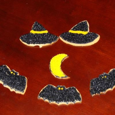 Witch's Hat, Bats, Moon Cookies on Cake Central