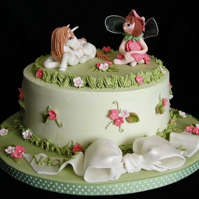 Fairy Unicorn Garden Cake on Cake Central
