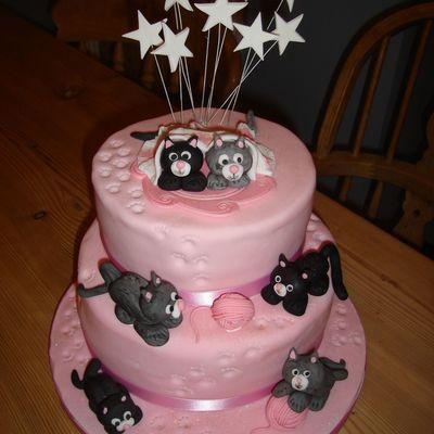 Surprising Cat Kitten Birthday Cake Cakecentral Com Funny Birthday Cards Online Overcheapnameinfo