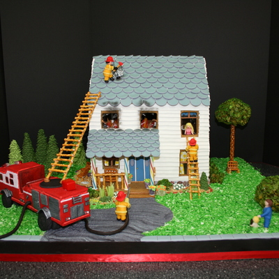House On Fire Gingerbread House