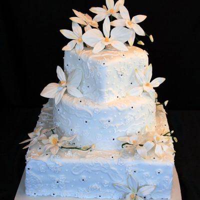 Orchids And Lace on Cake Central