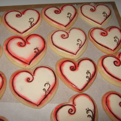 Decorated Heart Cookies