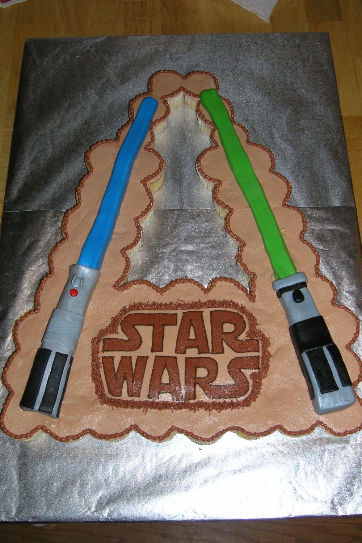 Super Lightsaber Cupcake Cake Cakecentral Com Funny Birthday Cards Online Sheoxdamsfinfo