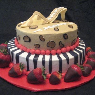 Animal Print With Strawberries