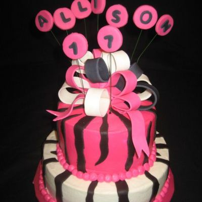 Hot Pink And Black Birthday