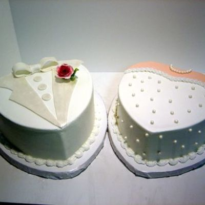 Bride And Groom Hearts on Cake Central