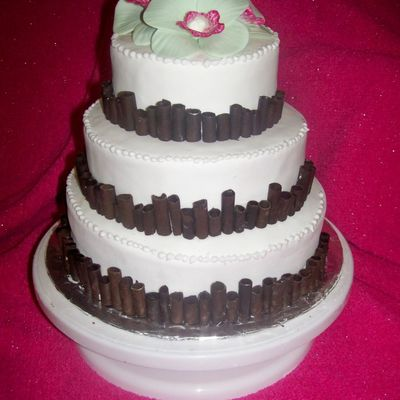 Cigarello Wedding Cake on Cake Central