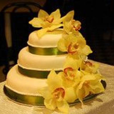 Wedding Cake With Orchids on Cake Central