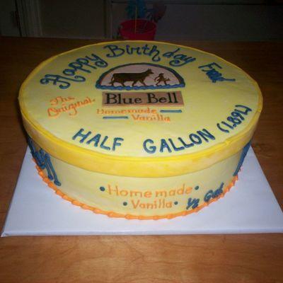 Blue Bell Ice Cream Cake