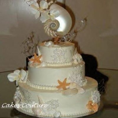 Seascape Wedding Cake on Cake Central