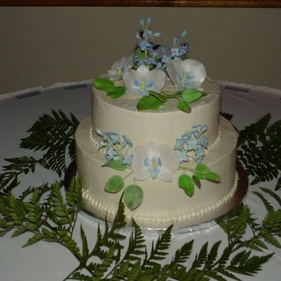Moth Orchid Tropical Wedding Cake on Cake Central