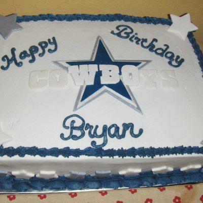Super Dallas Cowboys Sheet Cake Cakecentral Com Funny Birthday Cards Online Alyptdamsfinfo