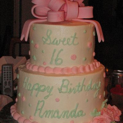 Sweet 16 2 Tier Cake