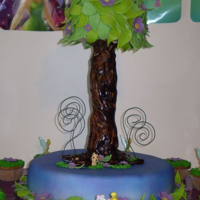 Another Tinkerbell Tree Top on Cake Central