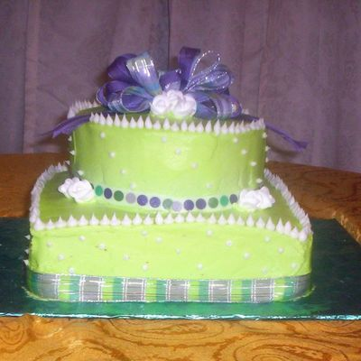 Sweet 16Th Lime Green on Cake Central