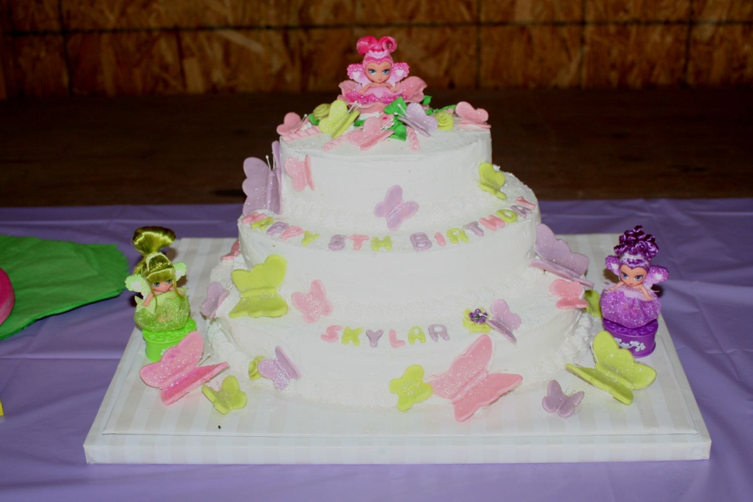 Wondrous Our Little Fairy Cake Granddaughter 5Th Birthday Cake Funny Birthday Cards Online Alyptdamsfinfo