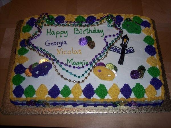 Prime Mardi Gras Birthday Cake Cakecentral Com Funny Birthday Cards Online Necthendildamsfinfo