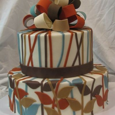 Retro/contemporary Baby on Cake Central