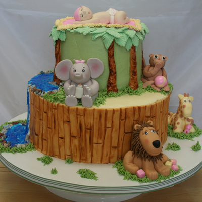 Baby Shower Jungle Cake
