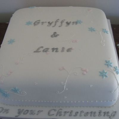 Christening Cake For Siblings
