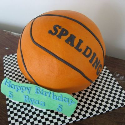 Ryan's Basketball Birthday Cake