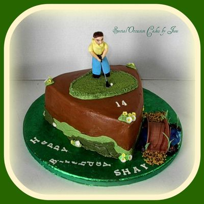 Golfer Shay's Birthday Cake