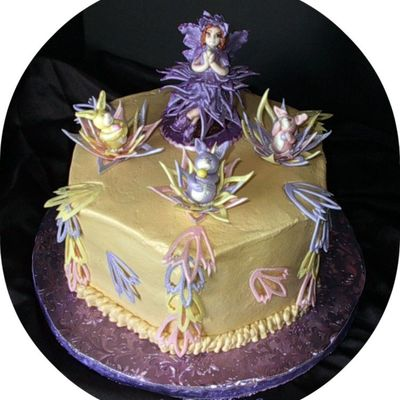Easter Lace Flower Fairy Cake