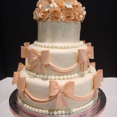wedding cakes with bows top cakes with bows cakecentral 25990