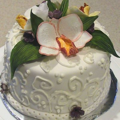 Orchid Cake on Cake Central