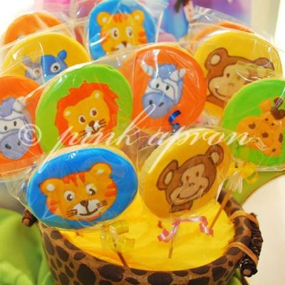 Jungle Safari Cookie Lollipops