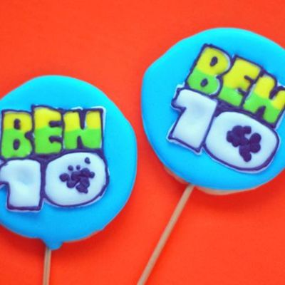 Ben10 Logo Cookie Lollipops