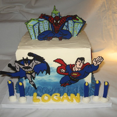 Logan's Superhero Cake